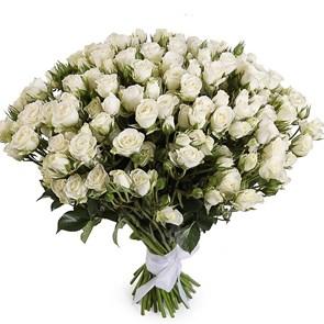 Букет кустовых роз Сноуфлейк
