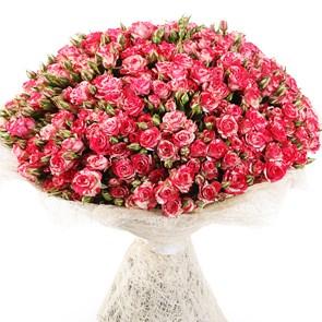 Букет кустовых роз Файер Воркс