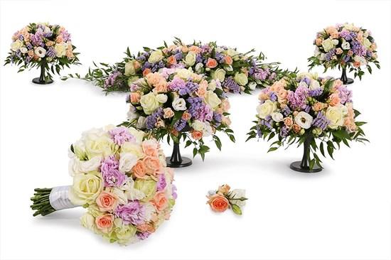 Свадебный комплект Нимфа (люкс) - фото 7358