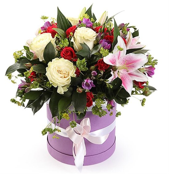 Букет с лилиями Дорога любви - фото 7800