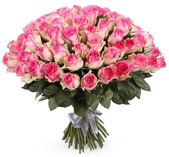 Букет 101 роза Малибу - фото 7855