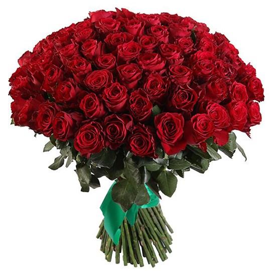 Букет 101 роза Хартс - фото 7864