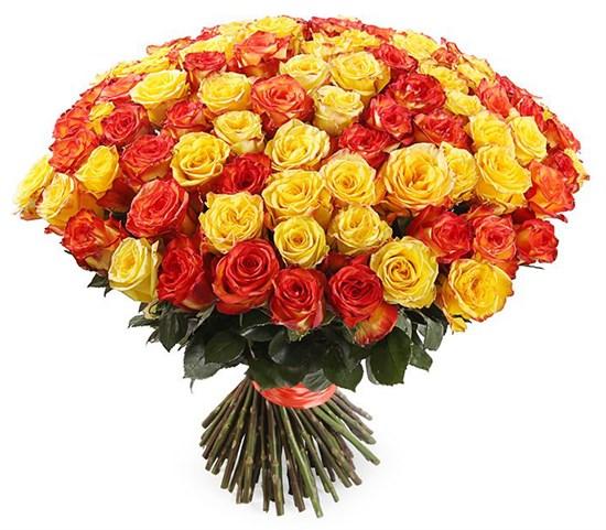 Букет 101 роза, Солнечный микс - фото 7868