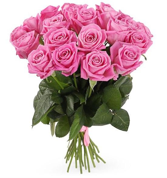 Букет 21 роза Аква - фото 7971