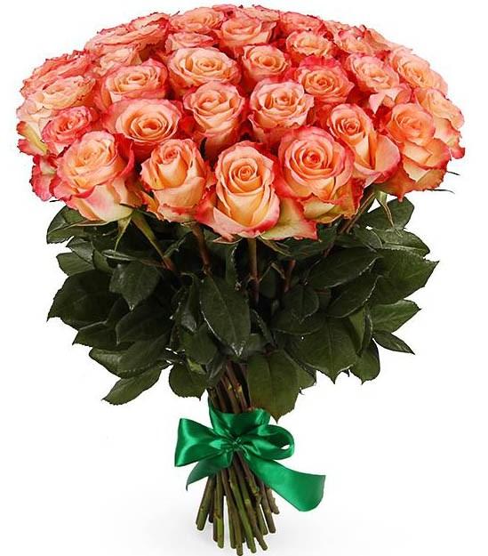 Букет 35 роз Дуэт Классик - фото 8146