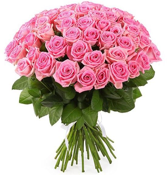 Букет 51 роза Аква - фото 8237