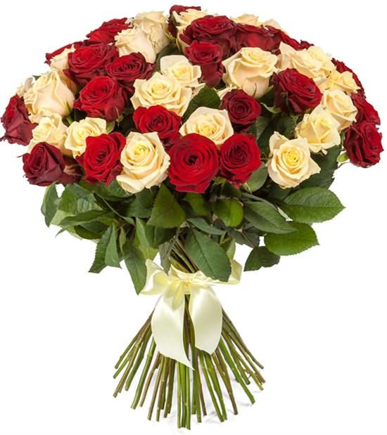 Букет 51 роза микс - фото 8268