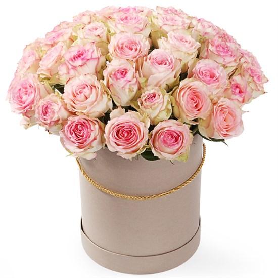 51 роза Эсперанс в шляпной коробке - фото 8288