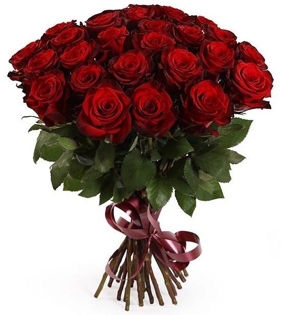 Букет из 25 красных роз Ред Париж - фото 8362