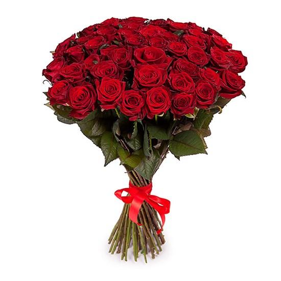 Букет из 51 красной розы 60/70 см - фото 8366