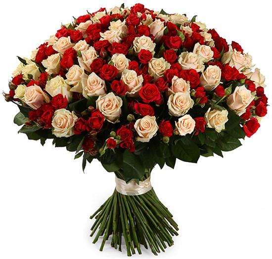 Букет Магдалина, 101 роза микс - фото 8423