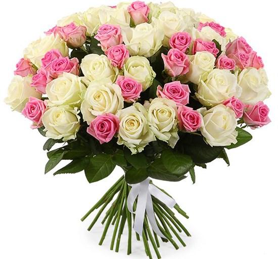 Букет Нежное настроение, 51 роза - фото 8437