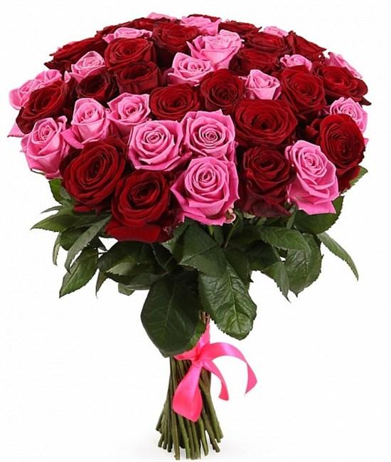Букет Страсть и нежность, 51 роза - фото 8499
