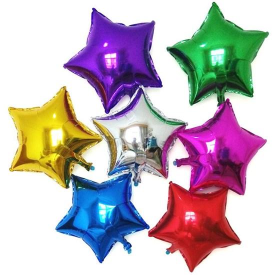 Воздушные шары 9 фольгированных звезд - фото 8637