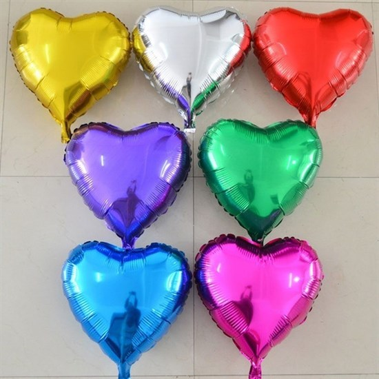 15 фольгированных сердец - фото 8642