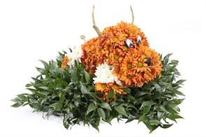 Игрушка из цветов Бычок
