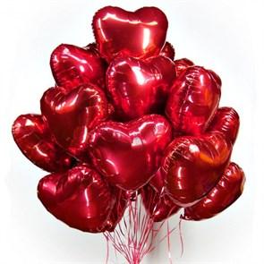 Воздушные шары 15 фольгированных сердец