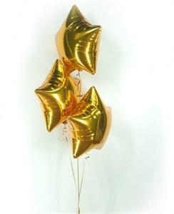 Воздушные шары 3 фольгированных звезды