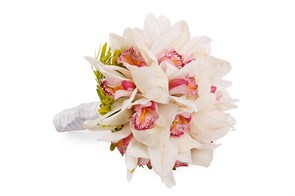 Букет невесты с орхидеями Леона