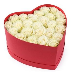 Букет Искренне Ваш в коробке-сердце
