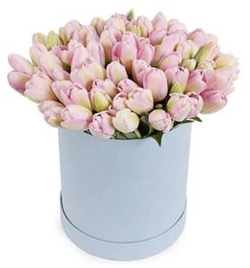 101 королевский тюльпан в коробке, жемчужные