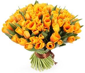 Букет 101 королевский тюльпан, рыжие