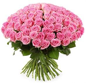 Букет 101 роза Аква