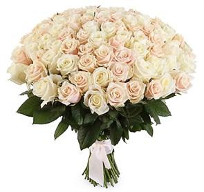 Букет 101 роза, белый микс