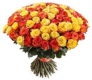 Букет 101 роза, Солнечный микс