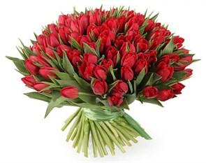 Букет 101 тюльпан, красные