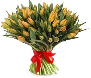 Букет 101 тюльпан, оранжевые