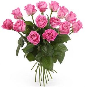 Букет 15 роз Аква