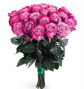 Букет 25 роз Дип Перпл
