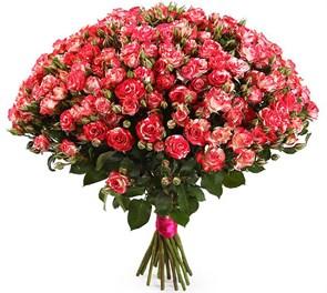 Букет 19 кустовых роз Фаер воркс