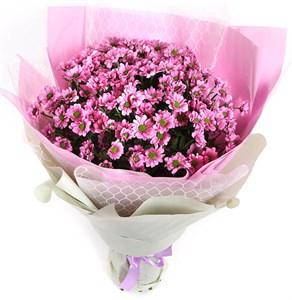 Букет 21 хризантема Сантини