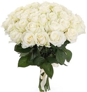Букет 41 роза Аваланш 60/70 см