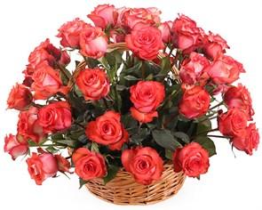 51 роза Игуана в корзине