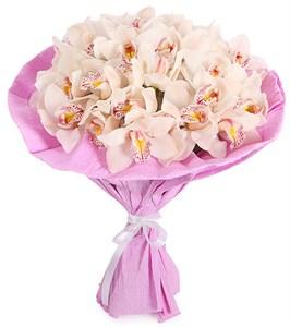 Букет из орхидей Ванильное мороженое