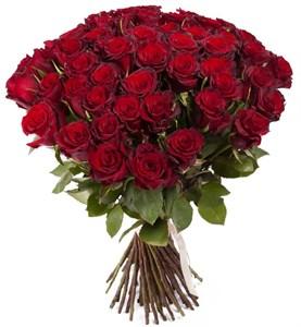 Букет из 51 красной розы Ред Париж