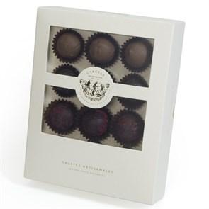 Счастье, набор из двенадцати трюфелей в шоколадной капсуле