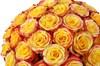 35 роз Хай Еллоу в шляпной коробке - фото 6157