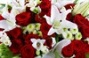 Букет с лилиями и розами Спящая красавица - фото 6504