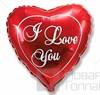 Воздушный шар сердце красный I Love You - фото 7006