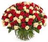 Букет 101 роза микс - фото 7854